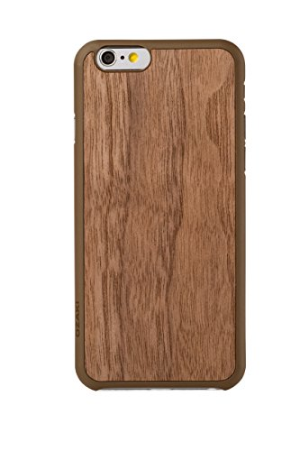 Ozaki OC556WT 0.3 Wood luxuriöse dünne Schutzhülle mit Holzrückseite inkl. Displayschutzfolie für Apple iPhone 6 / 6S walnuss