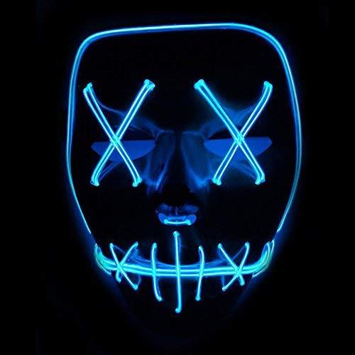Xdffy Halloween Máscara LED Ligero Gracioso Máscaras