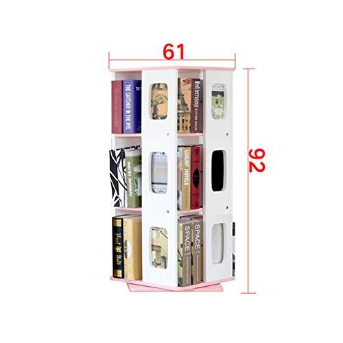 AI XIN SHOP Boekenkasten Eenvoudige staande Boekenplank Student, 360° Draaiende kubus Opslag Plank Creatieve CD Rack Krant Rack Children's Boekenplanken