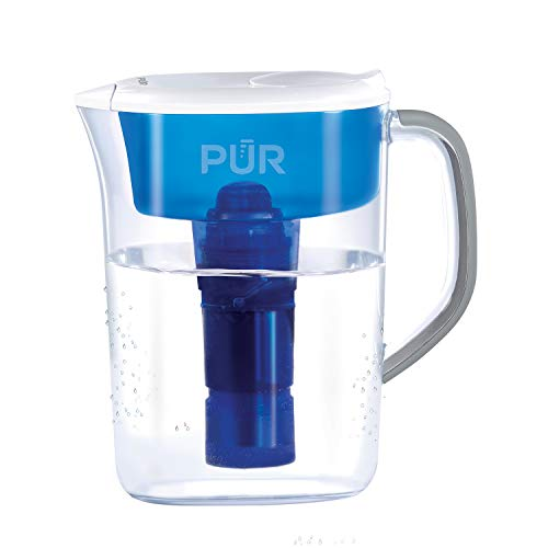 PUR PPT700WAM PPT700W Pitcher, 7 Cups, Clear/Blue