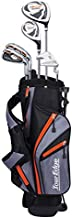 Tour Edge HL-J Junior Complete Golf Set with Bag (Right Hand, Graphite, 1 Putter, 2 Irons, 1 Hybrid, 1 Wood, 5-8 YRS) Orange