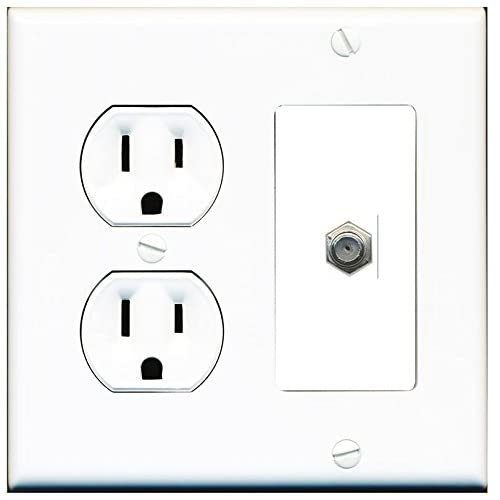 coax and power wall plate  amazon com