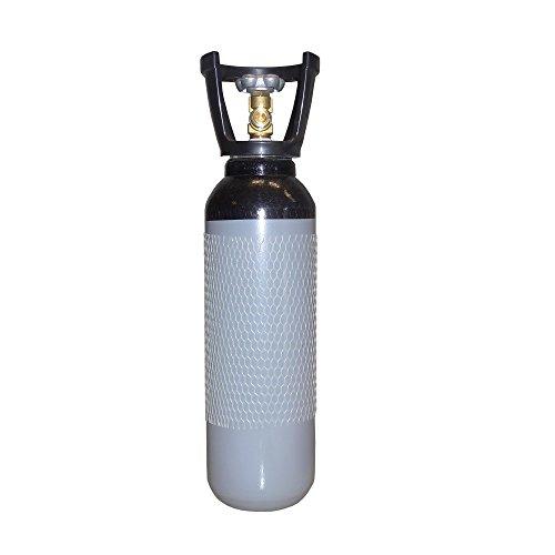 Stickstoffflasche mit Kunststoffcage - Gasflasche 5L Stickstoff gefüllt und fabrikneu von Gase Dopp