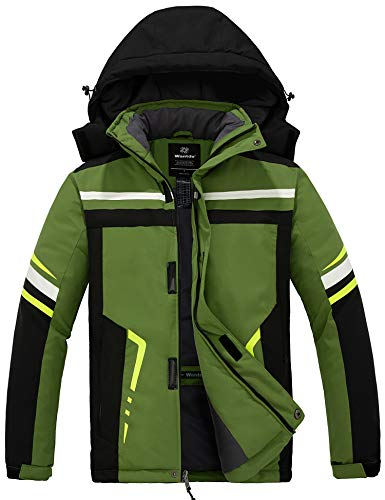 BALEAF Men's Lightweight Warm Puffer Jacket Winter Down Jacket Thermal Hybrid Hiking Coat Water Resistant Packable Black XL