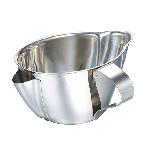 Decdeal Fetttrennkanne Edelstahl Fettabscheider Kanne Rostfrei Sicher Reinigung Bequem Langlebiges Gut Gebogener Griff für Küche