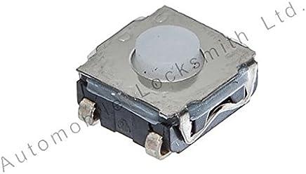 2 x tattile micro Interruttori con quattro gambe 6,5 mm x 6,5 mm per telecomando chiavi auto VW AUDI MERCEDES NISSAN RENAULT PEUGEOT