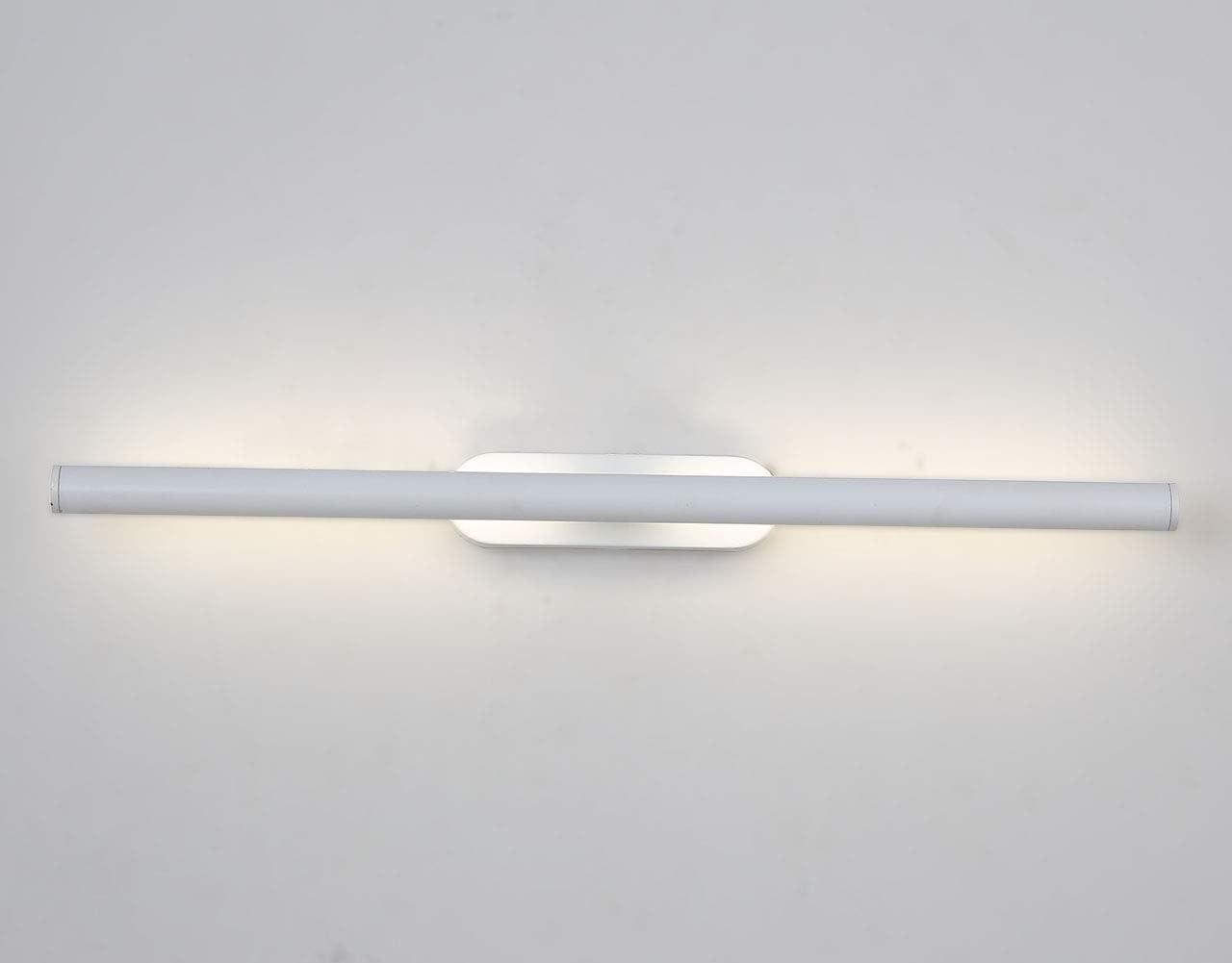 10W Spiegelleuchte Spiegellampe Badleuchte Badlampe Wandleuchte Schranklampe Bilderlampe Edelstahl Wasserdicht Natürliches Licht(10w)