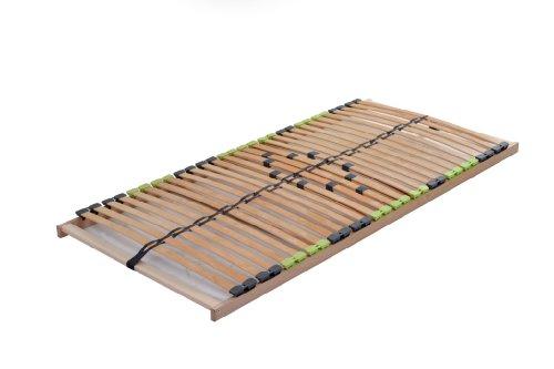 DaMi Lattenrost Basic Zerlegt 120 x 200 cm - 7 Zonen Lattenrahmen Aus Buche Mit 5-Fach Härteverstellung - Starr