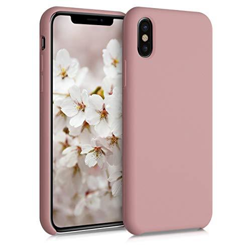kwmobile Hülle kompatibel mit Apple iPhone X - Hülle Handyhülle gummiert - Handy Case in Rose Tan