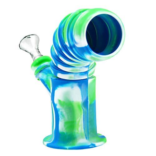 "Silicone Handmade Crafts Adjustable Water Bottle, 5.5""-9.6"""