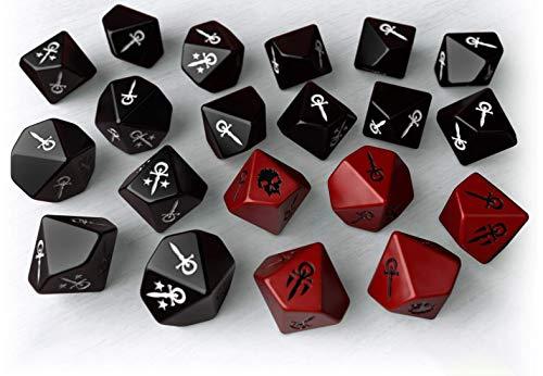 "Nosolorol AC035 Würfel für Brettspiel ""Vampire"", neutrale Farbe"