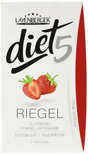 Layenberger diet5 Riegel Erdbeer-Müsli, 5 Stück