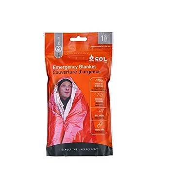 Sol Emergency Blanket Couverture Secours Mixte Adulte, Orange