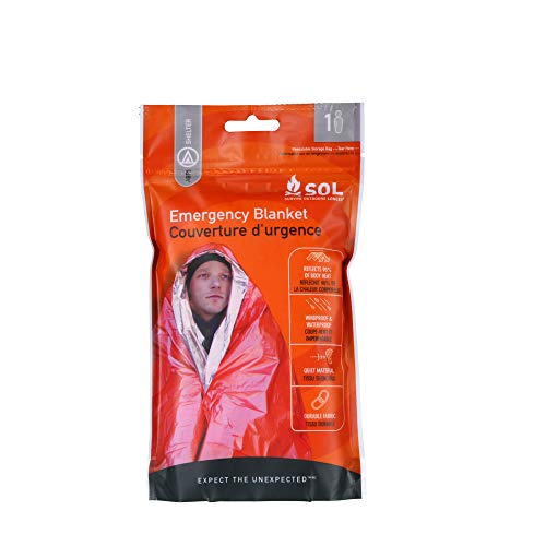 Sol Emergency Blanket Couverture Secours Mixte Adulte, Orange