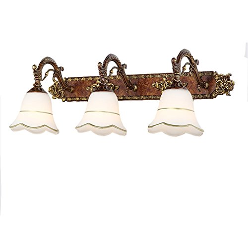 Bild Frontleuchte E14 Glühbirne Amerikanischen Stil Retro Spiegel Frontleuchte Nachttisch Europäischen Stil Wandleuchte Einfache Make-Up Spiegel Lampe LED Bad Wc Spiegelschrank Lichter Eitelkeitslicht