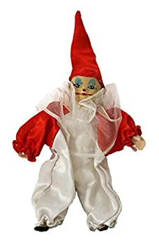 JOINER Clown Porcelain Doll 6 Inches with Red and White Custom Co.