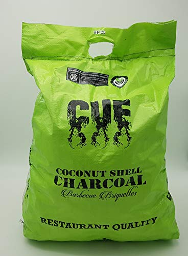CUE CHARCOAL Cachorro para Barbacoa de carbón Vegetal – Bolsas de 12 kg – Calidad de retención 100% Natural