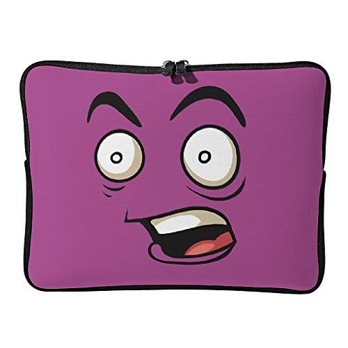 Bolsa para portátil con sorpresa normal, delgada, resistente al desgaste, con expresión divertida, adecuada para el colegio