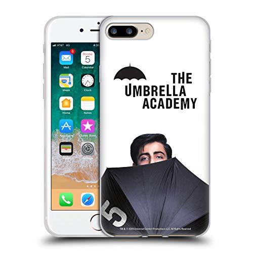 Head Case Designs Oficial The Umbrella Academy Número Cinco Póster Carcasa de Gel de Silicona Compatible con Apple iPhone 7 Plus/iPhone 8 Plus