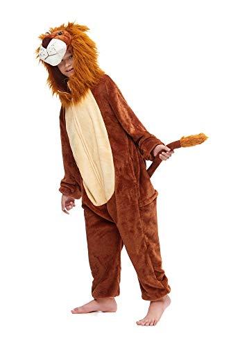 emmarcon Kigurumi Pigiami Animali da Bimbi Bambini Tuta Costume Carnevale Halloween Festa Cosplay unisex-130/altezza 125-135-Leone 2/130