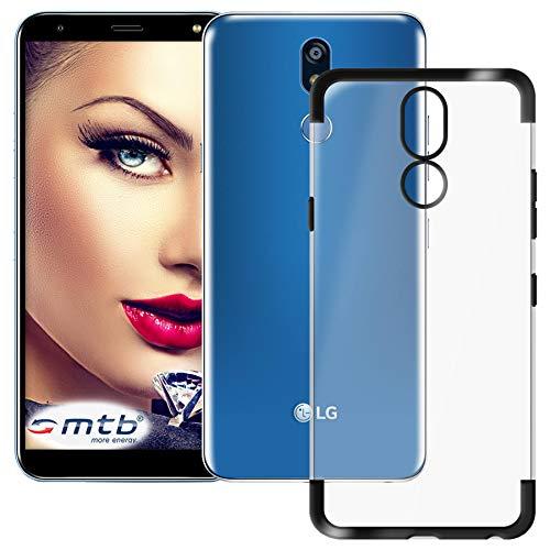 mtb more energy® Schutz-Hülle Elegance für Huawei LG K40 (LM-X420, 5.7'') - schwarz - flexibel - TPU Frame Rahmen Hülle Cover Tasche