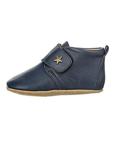 Bisgaard Unisex Baby Velcro Star Hausschuhe, Blau (21 Navy), 22 EU