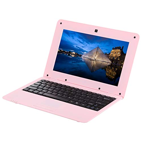 Laptop 10.1 inch Notebook PC, 1GB+8GB, Android 6.0 A33 Dual-Core ARM Cortex-A9 up to 1.5GHz, WiFi, SD Card, U Disk(Pink) zzm (Color : Black)