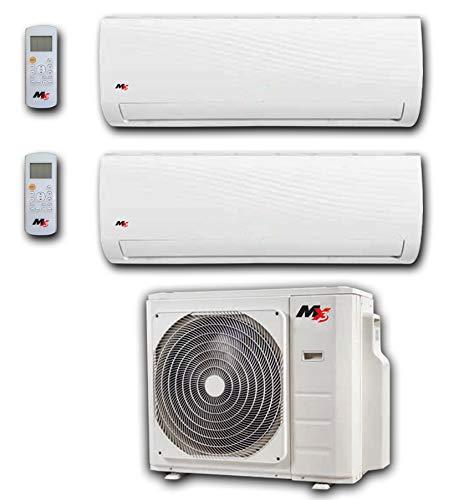 CONDIZIONATORE CLIMATIZZATORE INVERTER DUAL SPLIT DUALSPLIT MX3 BY MAXA 9000+12000 BTU GAS R32 A++ A+ WIFI OPTIONAL