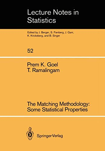 The Matching Methodology (Lecture Notes in Statistics)の詳細を見る