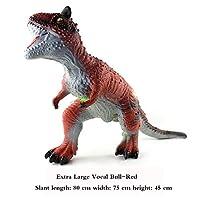 ジュラ紀の牛ドラゴン、恐竜動物モデル、現実的なおもちゃの装飾、教育学習認知玩具、教育玩具,赤