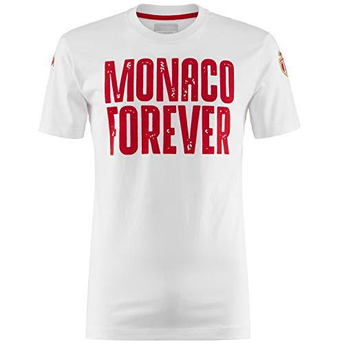 Kappa Unisex-Erwachsene Camiseta Zeeshirc As Mónaco Hemd, Weiß/Rot, M
