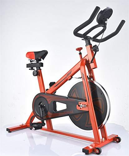 Qianglin Bicicleta de Ejercicio Interior Estacionaria, Bicicleta de Ciclo con Soporte para iPad & ComfortSeat CushionFor Home Workout Bike Training (Color : Red)
