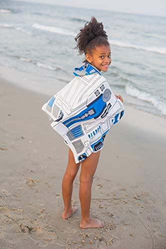 Jay Franco Classic Cotton Hooded Bath/Beach/Pool Towel, Star Wars R2D2