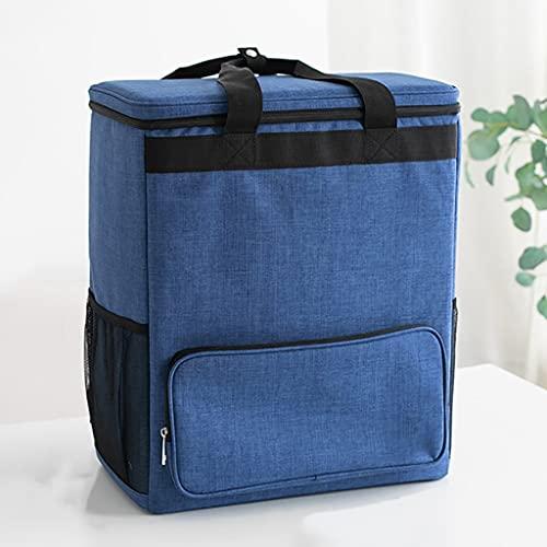 YUN HAI Zaino Isolante Pieghevole Oxford Plan Lunch Bag Pranzo Portatile E Leggero, Vacellana di Raffreddamento Alimentare Bento Box Storage, Staffa Anti-deformazione, per Viaggi da Picnic All'aperto
