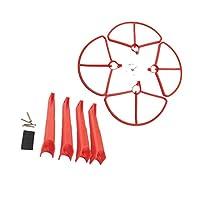 プロペラカバー プロペラガード 着陸装置 Hubsan H501S H501A H501C H501M H501S W H501S Pro適用 全3色 - 赤