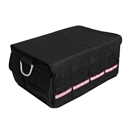 HANHJ Car Storage Trunk Storage Box Car Storage Box with Oxford Cloth Simple Multi-Functional Packing BoxBlack