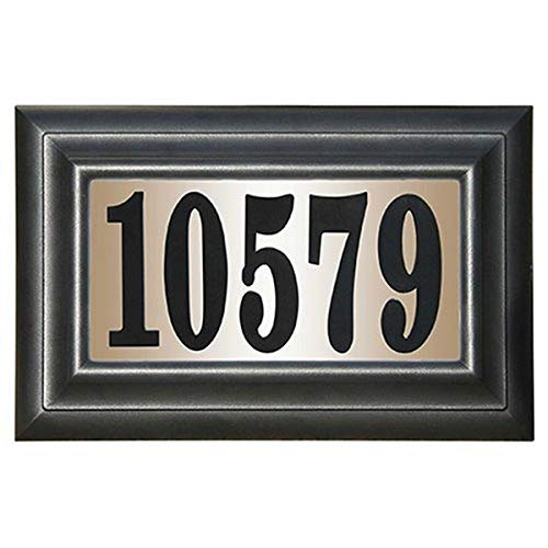 Edgewood Classic Rectangular Plastic Lighted Address Plaque