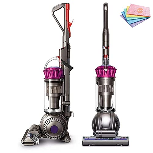 Flagship Dyson Ball MultiFloor Upright Vacuum: High Performance HEPA Filter, Bagless Height Adjustment,Strongest Suction,Telescopic Handle,Self Propelled Rotating Brushes, Fuchsia+ Sponge Cloth