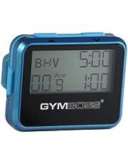 Gymboss Interval Timer en Stopwatch - TEAL/BLAUW METALLIC GLOSS