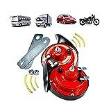 12V Train Horns for Trucks, Electric Snail Horn Waterproof Horns Kit Super Loud for Car Motorcycle Truck Boat (2 pcs)