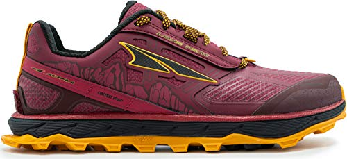 ALTRA Women's ALW1855L Lone Peak 4 Low RSM Waterproof Trail Running Shoe, Beet Red - 9 M US