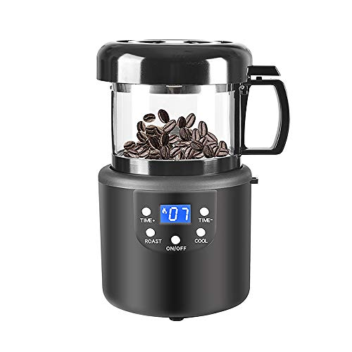 Coffee Roaster, Automatic Air Coffee Roasters Machine for Home Use, Chestnut Popcorn Peanut Roaster Machine with Timing 110V