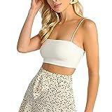 Camiseta de verano sexy con cuello cuadrado de color liso sin mangas para mujer sexy blanco XL