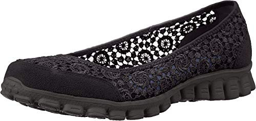 Skechers EZ FLEX 2-FLIGHTLY Damen Turnschuhe, Negro (Bbk), 38 EU