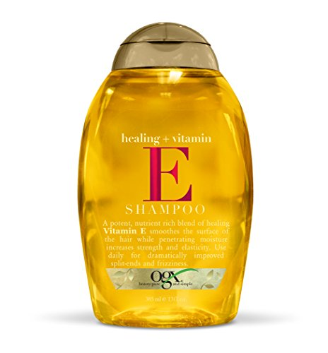 OGX Shampoo, Healing Plus Vitamin E Shampoo, One Bottle (13 oz), Lightweight and Moisturizing Sulfate Free Surfactants Shampoo