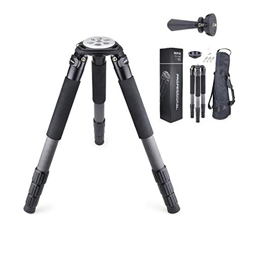 Carbon Fiber Tripod INNOREL RT90C Bowl Tripods Professional Heavy Duty Camera Stand with 75mm Bowl Adapter for DSLR Cameras Compatible with Ball Head & Hydraulic Head, 63 inch, 40mm Tube 40kg Load