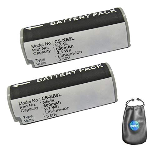 amsahr digitale camera en camcorder batterij voor Canon NB-9L IXUS 1000HS, IXY 50S Pack-2 - inclusief objectief accessoires