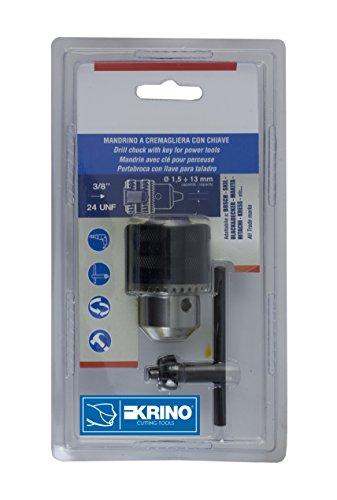 Krino 2800130 MANDRINO Con Chiave Attacco 3/8X24 UNF Capacità 1,5÷13Mm, Acciaio