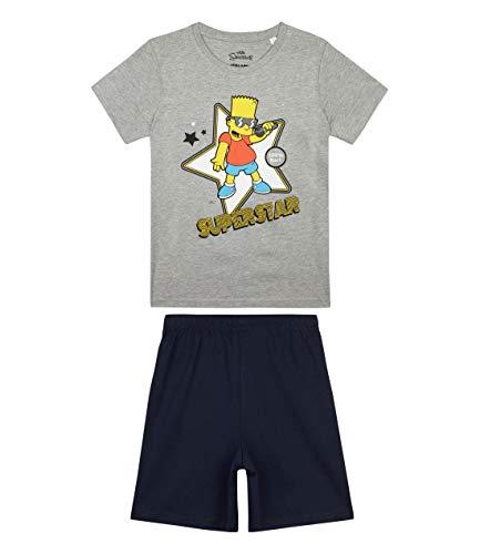 Die Simpsons Jungen Shorty-Pyjama Grau 116