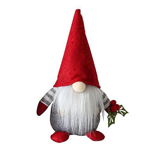 Moligh doll Cherry Gnome Handmade Scandinavian Tomte Nisse Elf Dwarf Kitchen Farmhouse Home Decoration, Couples Gifts, A